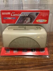Design Concepts Laminator Machine W 6 Starter Pouches Cards Photo Protection