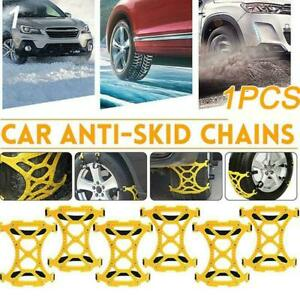 For Car Truck Wheel Tire Mud Anti Skid Chains Emergency Best Yellow Belt F7w5