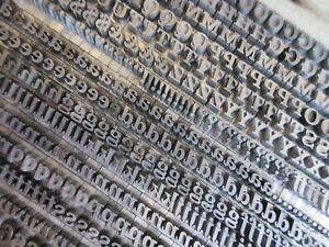 Letterpress Lead Type 18 Pt Fortune Bold Italic Bauer Type Foundry H8