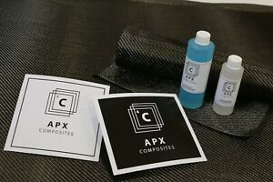 Real Carbon Fiber Fast Epoxy Uv Resin Kit 12 Oz 2x2 Twill 200 Gsm 50 X 12
