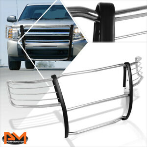 For 07 13 Chevy Silverado 1500 Front Bumper Brush Grille Guard Protector Chrome