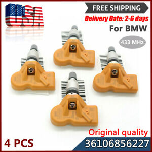 New Set 4pcs 36106856227 433mhz Orange Tire Pressure Sensor Tpms For Bmw Z4 Mini