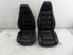 Porsche 928 S Front Seats Black 84 Oem Leather Stretched Worn