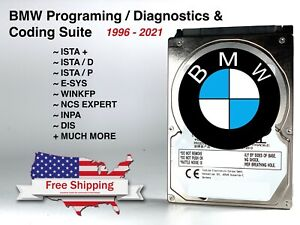 2021 Diagnostic Software For Bmw Mini Ista Esys Hdd Hard Drive Tool K Dcan Icom