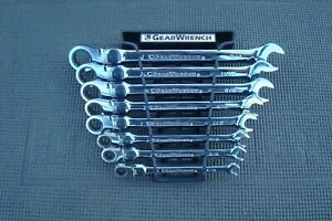 8 Piece Sae Gear Wrench Xl Locking Flex Head Ratcheting Wrench Set 85798