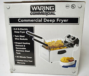 New Open Box Waring Wdf75rc Commercial Countertop Fryer Electric 8 5 Lb 120v