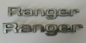 Vtg Set Of 1980 1981 1982 1983 1984 Ford Ranger Chrome Fender Emblems Nameplates