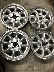 Panasport Racing 15x5 5 Alfa Romeo Wheels Four Made In Japan
