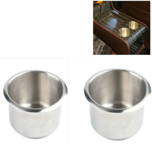2pcs Stainless Steel Recessed Cup Drink Holder For Marine Boat Camper Truck