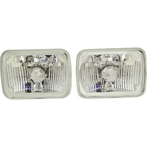 New Headlights Driving Head Lights Headlamps Set Of 2 Chevy S10 Pair