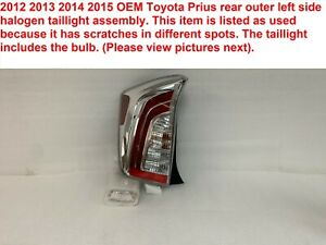 2012 2015 Toyota Prius Rear Outer Left Side Halogen Taillight Assembly