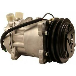 8842920a Sanden Sd7h15hd Compressor W 2 Groove Clutch New Fits Valtra
