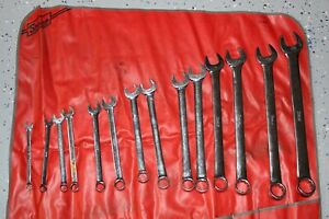 Snap on Tools 14 Pc 12 point Sae Standard Combination Wrench Set 3 8 1 1 4 Us