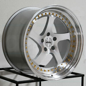 19x9 5 19x11 Whistler Sk5 5x114 3 12 15 Machined Silver Wheels Rims Set 4 73 1