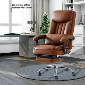Executive Racing Gaming Chair Ergonomic Pu Leather Office Computer Chair pedal
