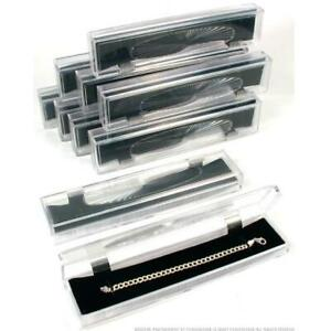 10 Clear Crystal Bracelet Gift Boxes 8 7 8
