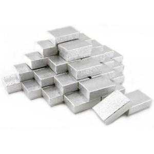 36 Silver Charm Cotton Boxes Showcase Gift Case Display