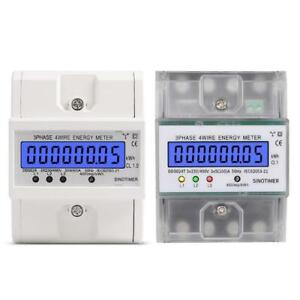 3 Phase 4 Wire Electronic Power Consumption Energy Meter Backlight Display