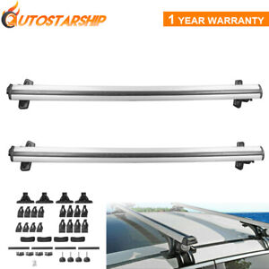 Pair Universal 48 Car Roof Rack Cross Bar Luggage Carrier With 3 Clamp Legs New