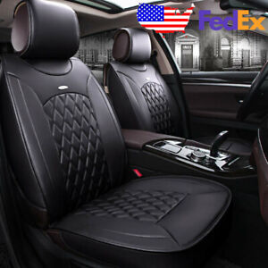 Car Leather Seat Covers Cushions Kit For Hyundai Elantra Sonata Ix35 Kia Optima