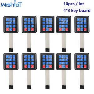 12 Keyboard Keypad Module Membrane Switch Button 4x3 Matrix Array For Arduino