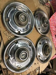 1967 1970 1972 Chevrolet Gmc C10 C20 C30 Truck Blazer Set Of 4 Hubcaps Hub Caps