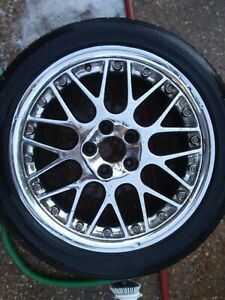 4 Volvo C70 Propus Chrome Wheels Oem Bbs Rs797 17x7 5 2 Piece Rims