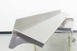 Used 132 Stainless Steel Wall Mounted Shelving 560016