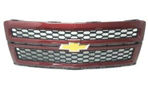 Oem 2014 2016 Chevy Silverado 1500 Front Grille Deep Ruby Metallic Gm 23194170