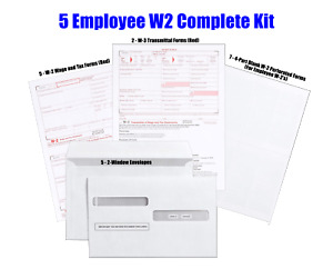 Complete 2020 Laser inkjet Year end Kit For 5 W 2 Employees