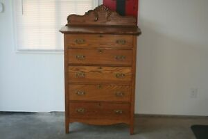 Antique Oak Highboy Dresser Beautiful