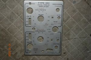 Good Vintage Tektronix Plug in Face Plate Oscilloscope Type 3a1 Dual Trace Amp