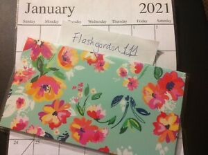 1 2021 2022 Green Floral Two Year Planner Pocket Calendar 2 Year Datebook Gift