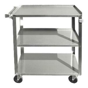 Update Bc 2415ss 27 In X 16 1 4 In 3 tier Stainless Steel Utility Cart