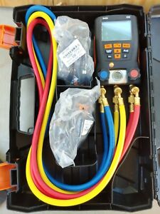 Testo 550 Digital Manifold Kit W Bluetooth Hoses Clamp Probes 12 b3586c