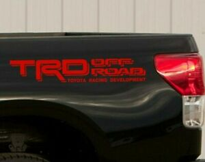 Truck Decals For Toyota Tundra Tacoma Trd Stickers Off Road Rear Bed Graphics X2