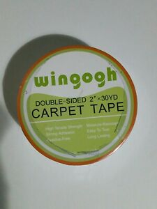 Double Sided Carpet Tape Heavy Duty For Wood Floors 2 Inch X 30 Yards Rug Tape