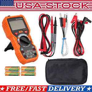 Digital Multimeter Auto Range Ac dc Voltage Current Ncv Tester 6000 Counts Trms