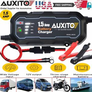 Smart Car Battery Charger Maintainer For 6v 12v Agm Gel Wet Battery Vehicles Usa