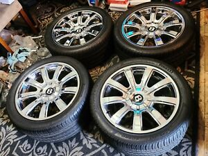 19 Bentley Continental Gtc Chrome Mulliner Oem Factory Wheels Flying Spur 20