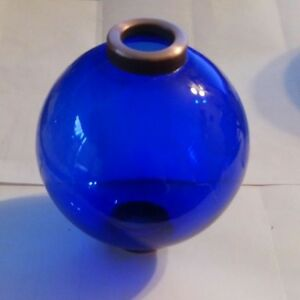 4 5 Blue Glass Ball For Weathervane Or Lightening Rods Fits 1 2 Rod