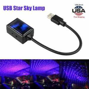 Usb Car Interior Atmosphere Starry Sky Lamp Ambient Star Led Light Projector Us