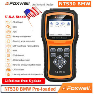 For Bmw Mini Obd2 Scanner Code Reader Diagnostic Tool Srs Dpf Abs Foxwell Nt530