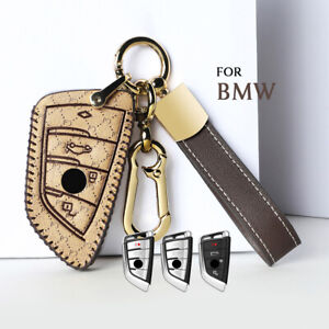 Leather Car Remote Key Case Cover For Bmw 4 Buttons X1 X2 X3 X5 X6 5 Series 2018