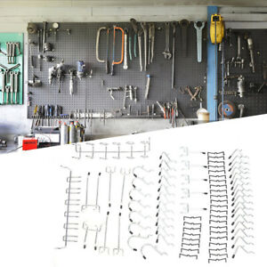 80pcs Pegboard Hooks Assortment Set Storage Shop Garage Organizing Tools Hanger