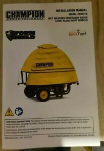 Champion Storm Shield Severe Weather Portable Generator Cover By Gentent