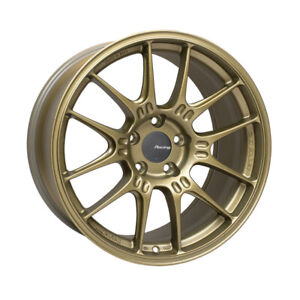 One Enkei Gtc02 18x9 5 40mm 5x114 3mm Lightweight Track Racing Wheel Gold