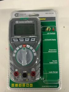 600v Commercial Electric 1001 418 348 Auto Ranging Digital Multimeter Brand New