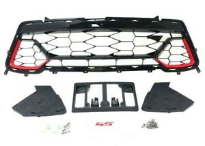2016 2018 Camaro Lower Grille Black Red Pull Me Over Inserts Ss Emblem 84040593