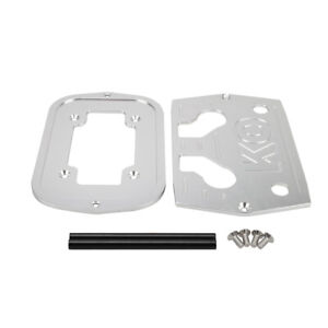 Polished Aluminum Billet Milled Hold Down Battery Bracket Tray Silver For Optima
